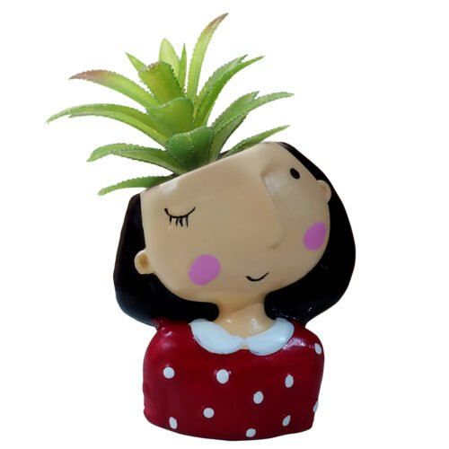 Doll with plant